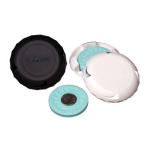 EZ twist refillable odour controller white holder dispenser
